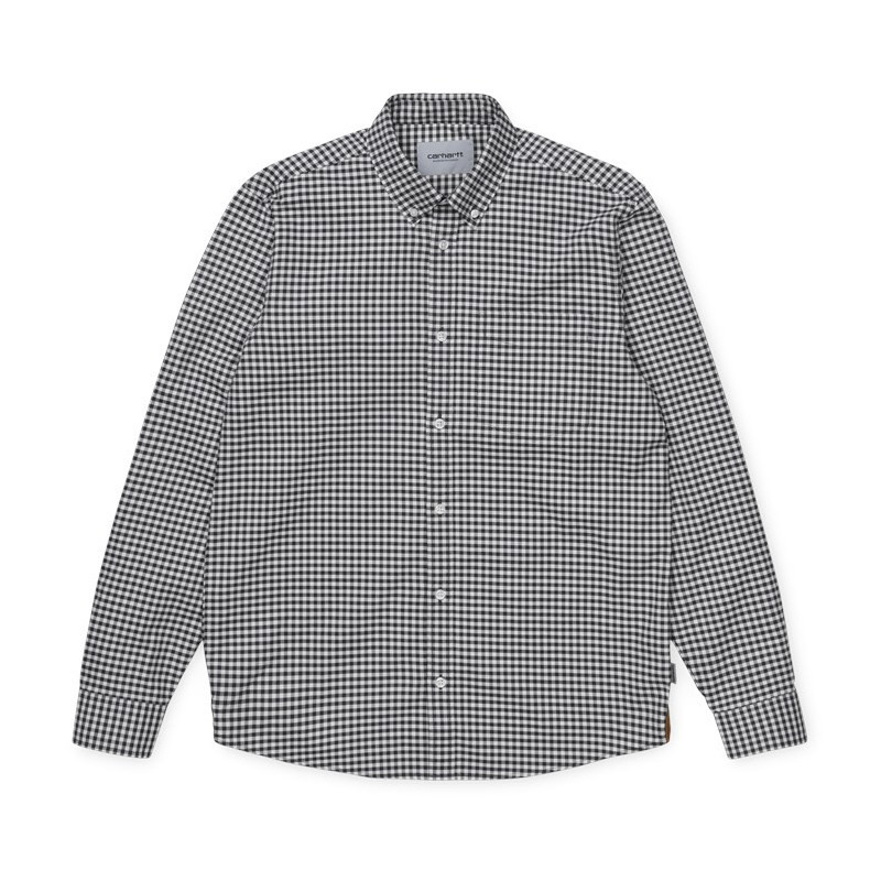 Camisa Carhartt: LS Bintley Shirt (Bintley Check Black)