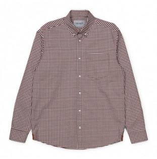 Camisa Carhartt: LS Bintley Shirt (Bintley Check Bordeaux)