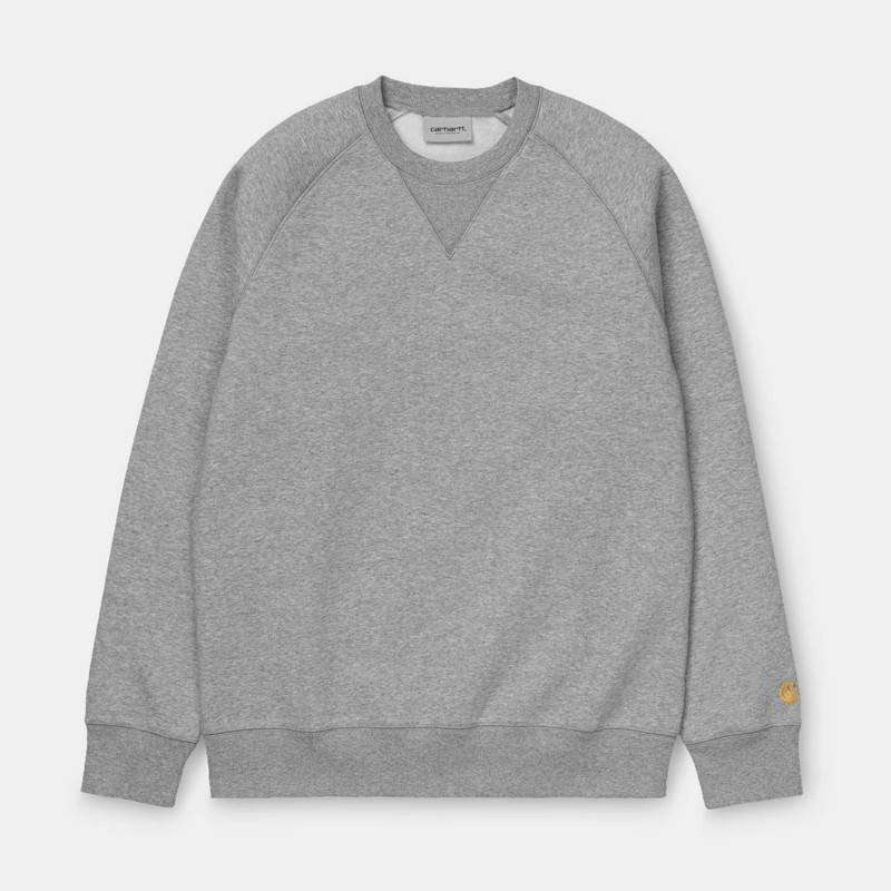 Sudadera Carhartt: Chase Sweat (Grey Heather Gold)