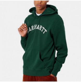Sudadera Carhartt: Hooded University Sweat (Bottle Green Wht) Carhartt - 1