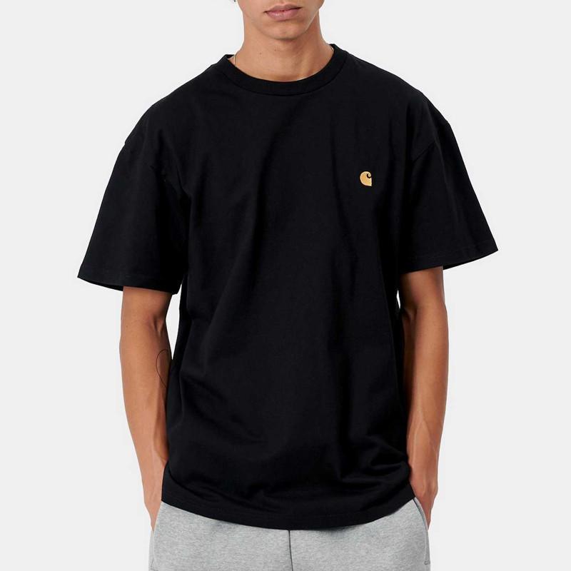 Camiseta Carhartt: SS Chase TShirt (Black Gold)
