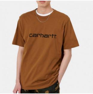 Camiseta Carhartt: SS Script TShirt (Hamilton Brown Black)