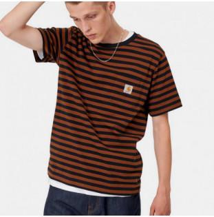 Camiseta Carhartt: SS Parker Pocket TShirt (Prkr St Blk Brnd)