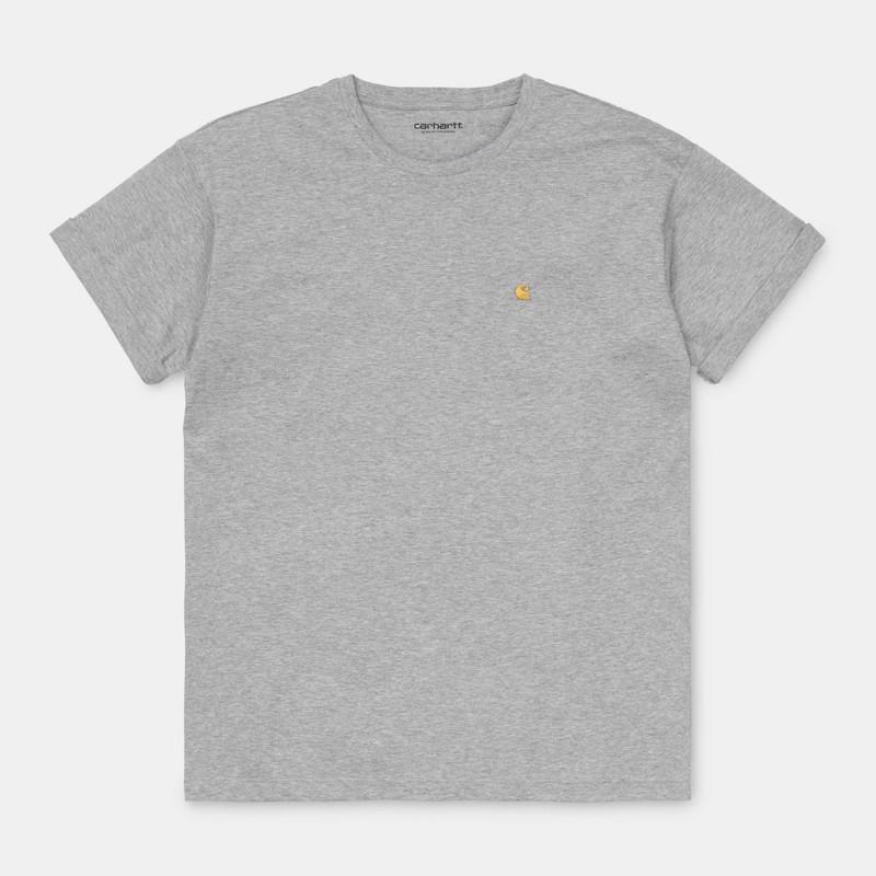 Camiseta Carhartt: W SS Chase TShirt (Grey Heather Gold)