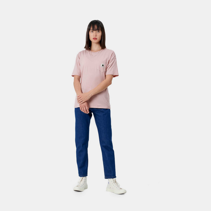 Camiseta Carhartt: W SS Carrie Pocket TShirt (Frosted Pink)