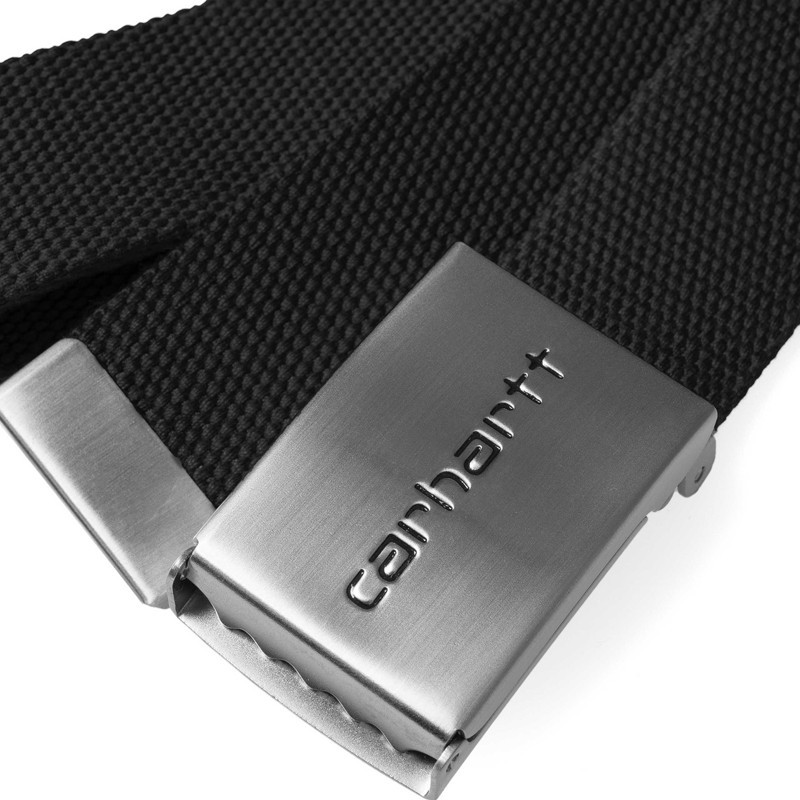 Cinturón Carhartt: Clip Belt Chrome (Black)