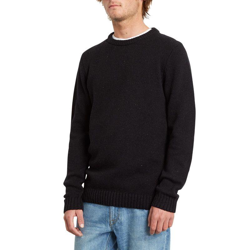 Jersey Volcom: EDMONDER SWEATER (BLACK WHT)