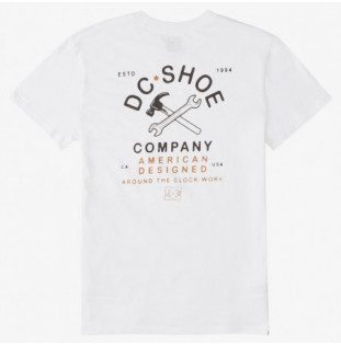 Camiseta DC Shoes: AROUND THE CLOC (WHITE) DC Shoes - 1
