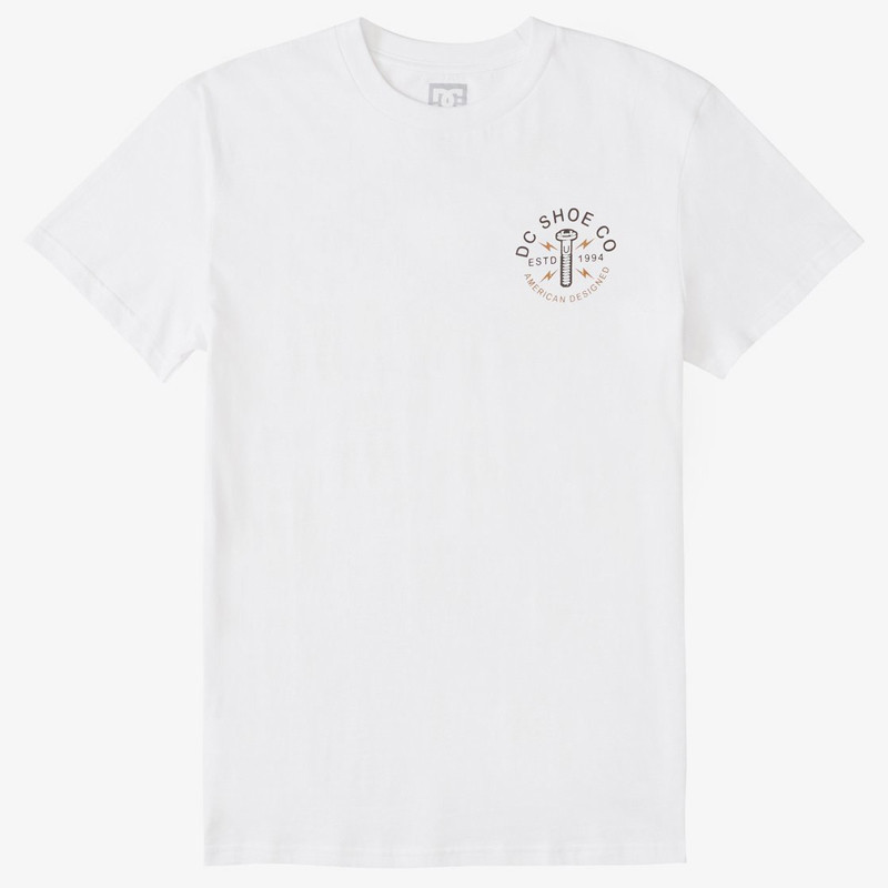 Camiseta DC Shoes: AROUND THE CLOC (WHITE)