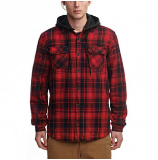 Camisa Globe: Alford III LS Shirt (Oxblood)