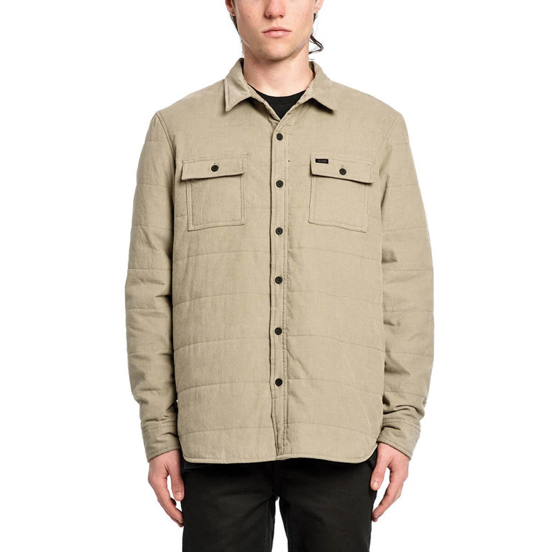 Camisa Globe: Winton Thermal Cord Shacket (Pumice)