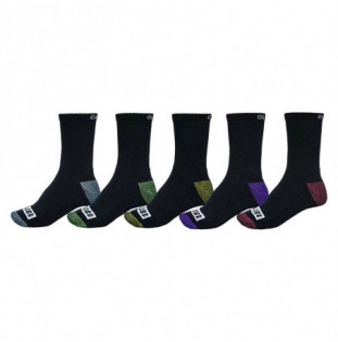Calcetines Globe: Romney Crew Sock 5 Pack  7 A 11 (Assorted) Globe - 1