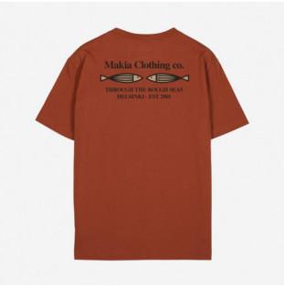 Camiseta Makia: Fiskari T shirt (COPPER)