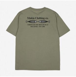 Camiseta Makia: Fiskari T shirt (OLIVE)
