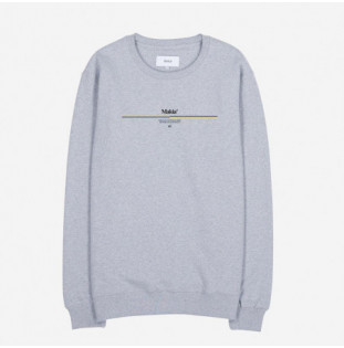 Sudadera Makia: Track Sweatshirt (LIGHT GREY)