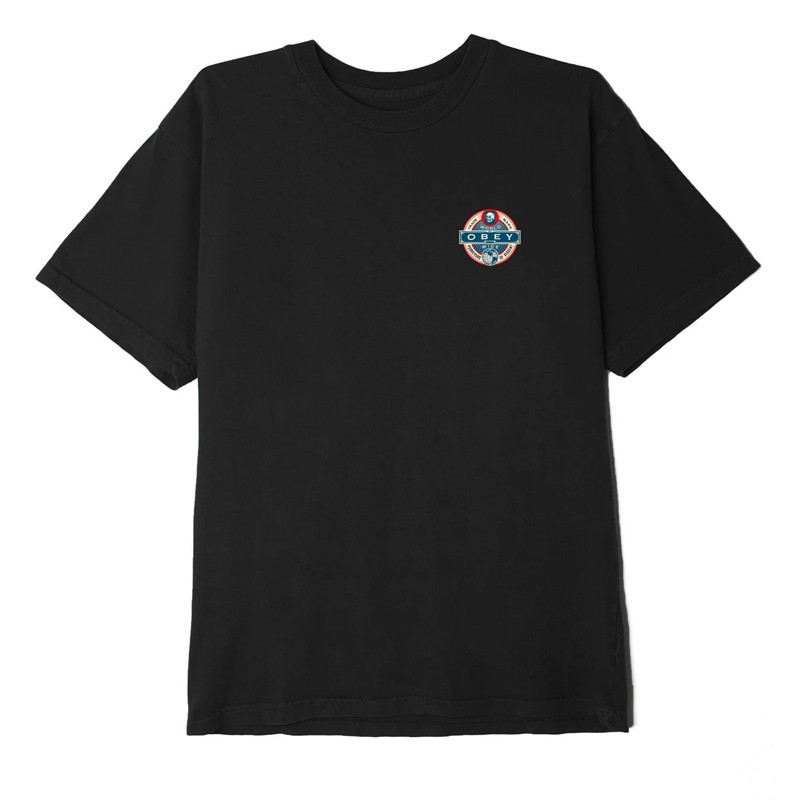 Camiseta Obey: OBEY PURVEYORS OF DISSENT (BLACK)