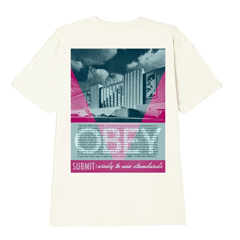 Camiseta Obey: OBEY CONFORMITY STANDARDS (CREAM)