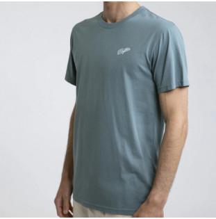 Camiseta Rhythm: ESSENT SCRIPT T-SHIRT (Mineral Blue) Rhythm - 1