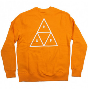 Sudadera HUF: ESSENTIALS TT CREW (ELECTRIC ORANGE) HUF - 1