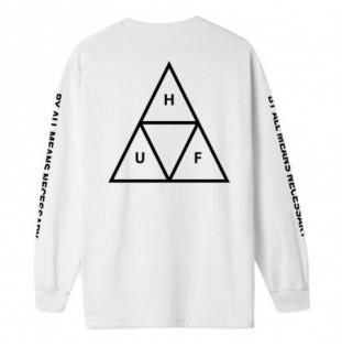 Camiseta HUF: ESSENTIALS TT LS TEE (WHITE)
