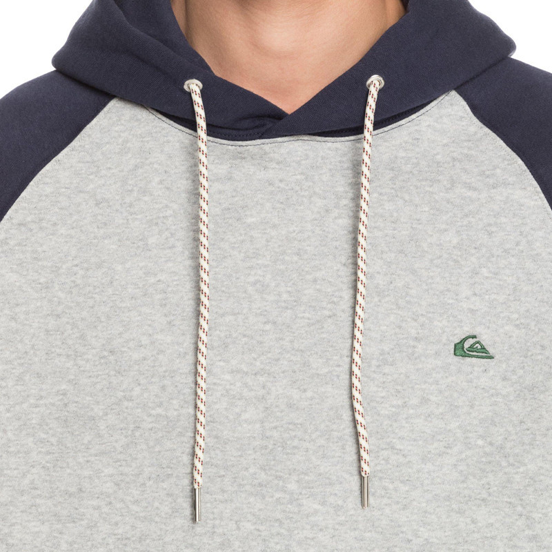 Sudadera Quiksilver: EVERYDAY HOOD (LIGHT GREY HEATHER)