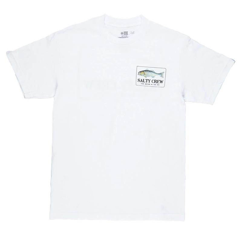 Camiseta Salty Crew: BRANZINO PREMIUM MENS SS (White)