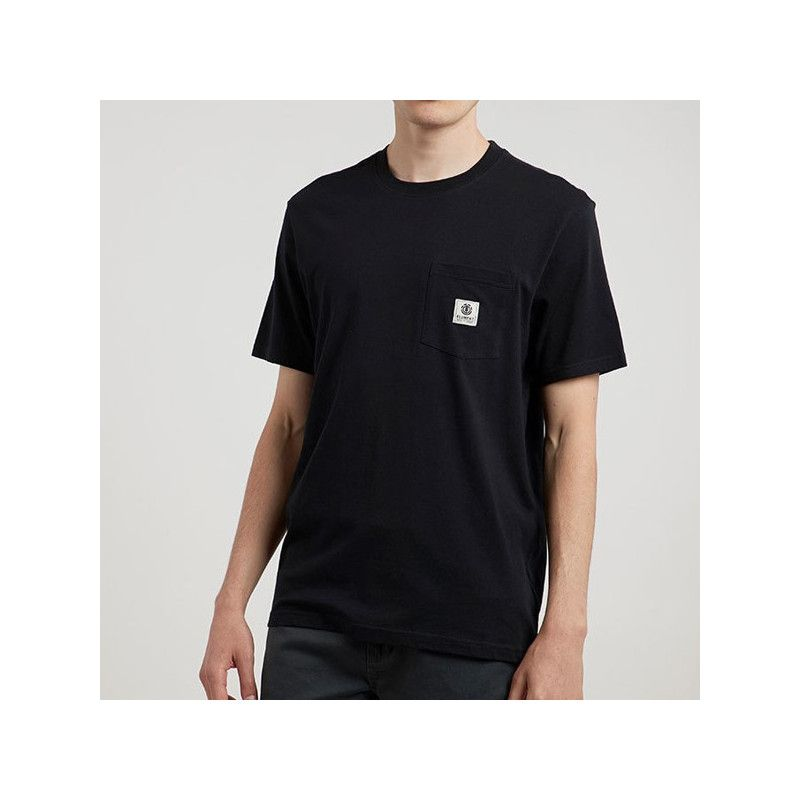 Camiseta Element: BASIC POCKET LABEL S (FLINT BLACK)