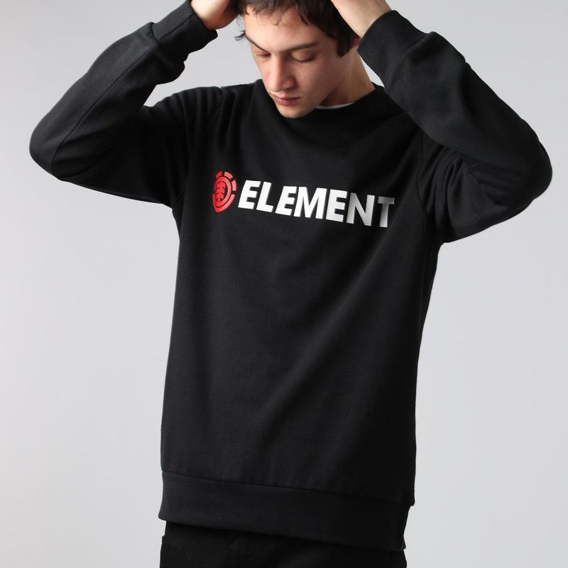 Sudadera Element: BLAZIN CREW (FLINT BLACK)