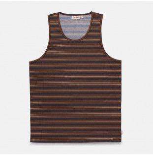 Camiseta Rhythm: EVERYDAY STRIPE SINGLET (Indigo)