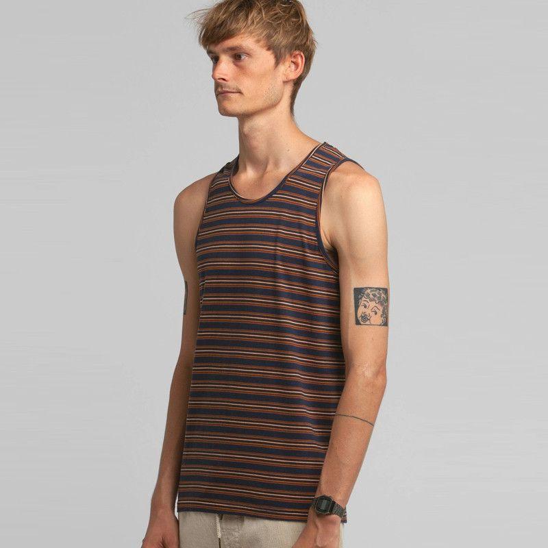 Camiseta Rhythm: EVERYDAY STRIPE SINGLET (Indigo)