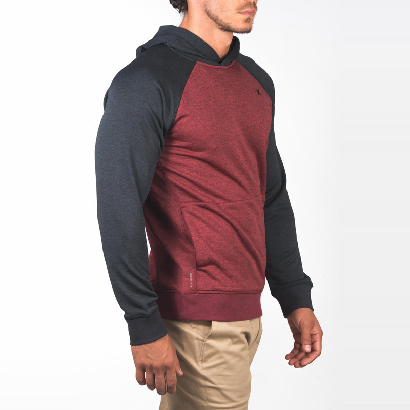Sudadera Hurley: DRI FIT DISPERSE PULLOVER (GYM RED)