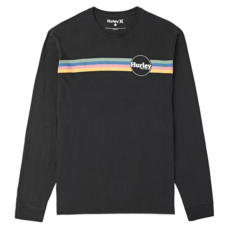 Camiseta Hurley: JAMMER STRIPE LS (BLACK)