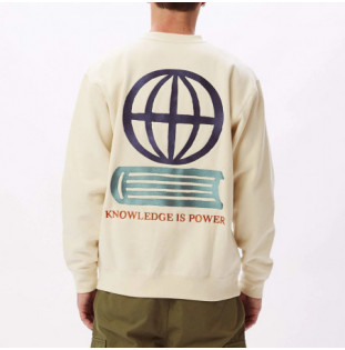 Sudadera Obey: OBEY KNOWLEDGE CREW (NATURAL) Obey - 1
