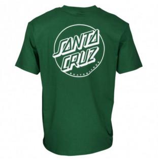 Camiseta Santa Cruz: TEE OPUS DOT STRIPE (EVERGREEN)