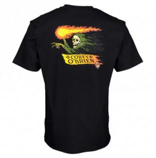 Camiseta Santa Cruz: TEE OBRIEN REAPER (BLACK)