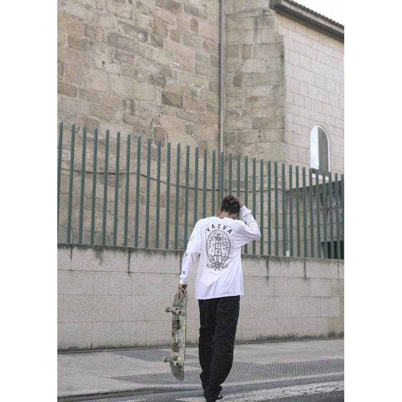 Camiseta Vazva: TS LIGHT LONG (WHITE)