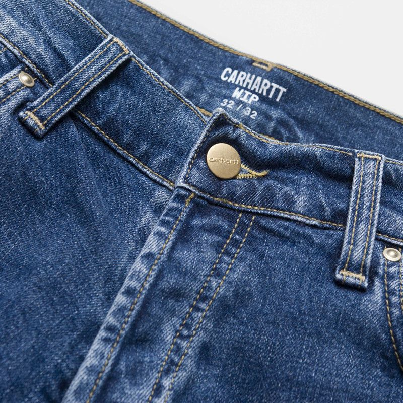 Pantalón Carhartt: Klondike Pant (Blue mid used wash)