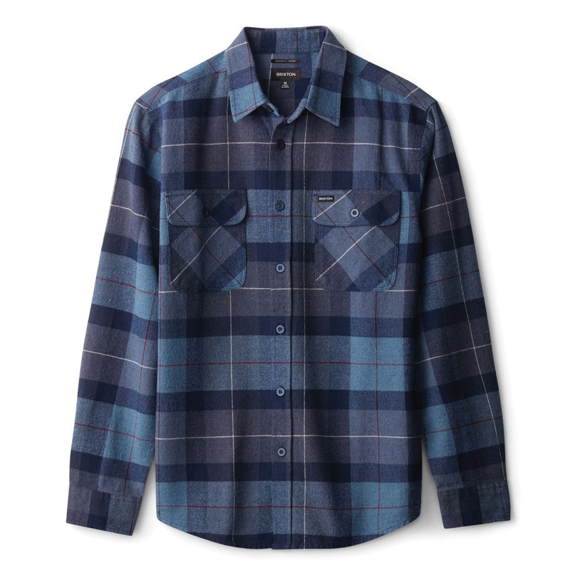 Camisa Brixton: BOWERY LS FLANNEL (NVCBL)