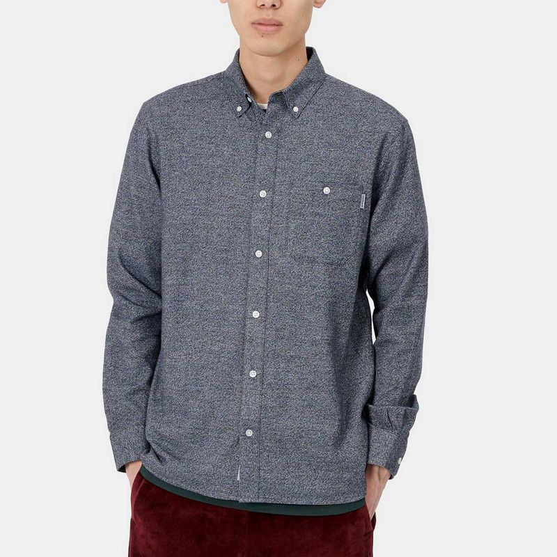 Camisa Carhartt: LS Corey Shirt (Dark Navy)