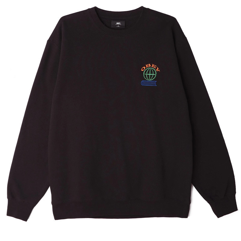 Sudadera Obey: OBEY KNOWLEDGE CREW (BLACK)