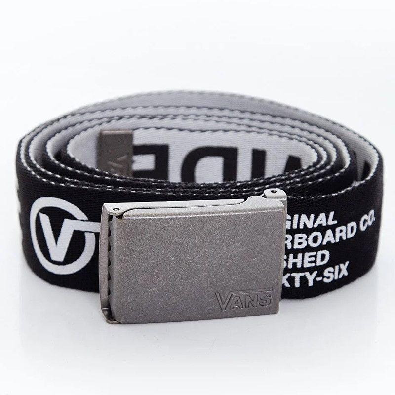 Cinturón Vans: MN LONG DEPSTER WEB (BLACK WHITE)