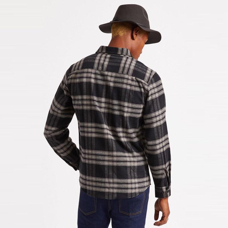 Camisa Brixton: BOWERY LS X FLANNEL (BKCHR)