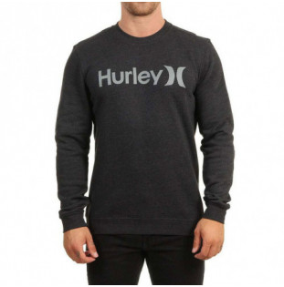 Sudadera Hurley: ONE AND ONLY CREW (BLACK HTR) Hurley - 1