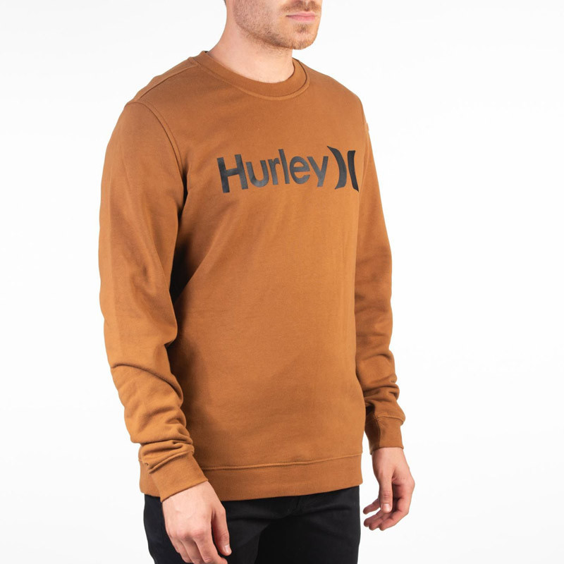 Sudadera Hurley: ONE AND ONLY CREW (LT BRITISH TAN)