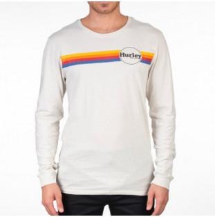 Camiseta Hurley: JAMMER STRIPE LS (LIGHT BONE) Hurley - 1