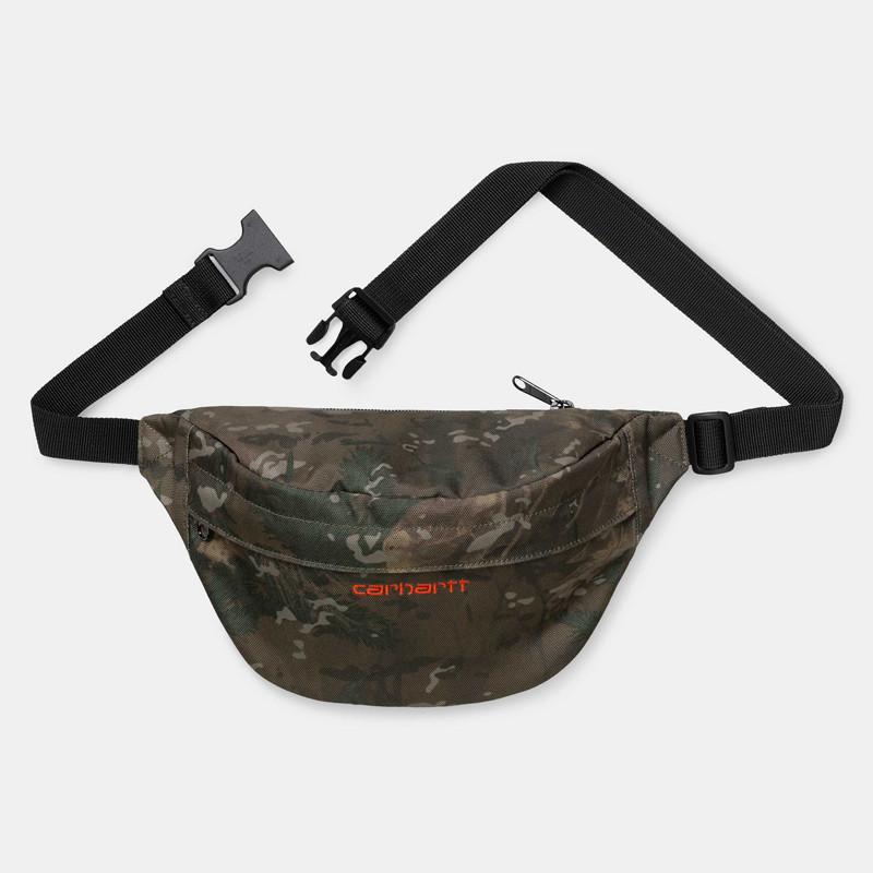 Riñonera Carhartt: Payton Hip Bag (Camo Combi Safety Orange)