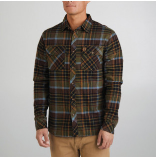 Camisa Hippytree: Rockaway Eco Flannel (Army) Hippytree - 1