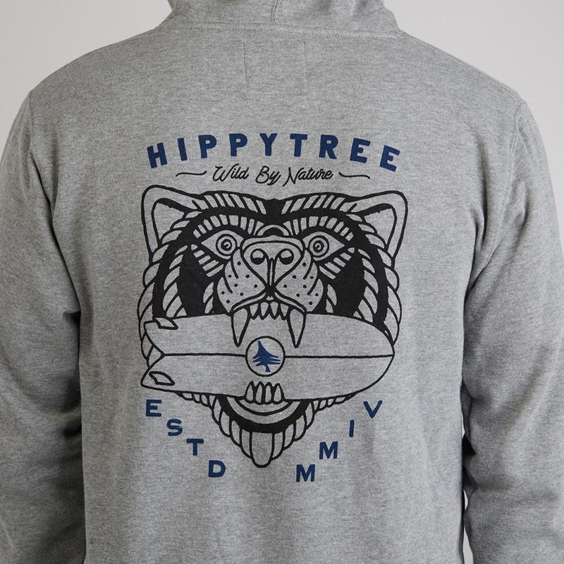 Sudadera Hippytree: Beast Hoody (Heather Grey)