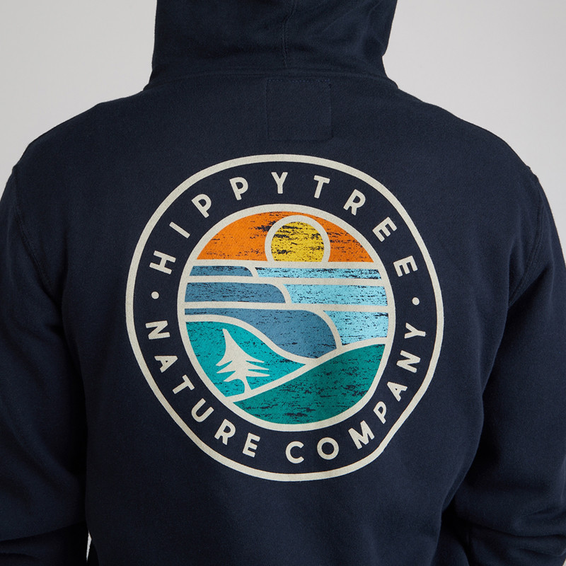 Sudadera Hippytree: Waveform Hoody (Navy)
