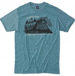 Camiseta Hippytree: Peaks Tee (Heather Teal) Hippytree - 1